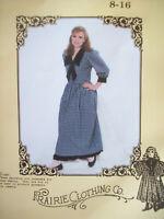 Vintage Prairie Dress Pattern Prairie Clothing Co. Sizes 8-16 Uncut/FF 1980s NOS