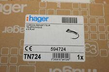 Hager TN724 - Cordon répartiteur téléphonique 4 x RJ45