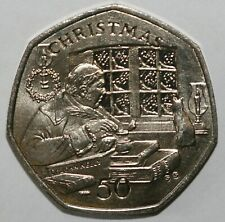 More details for 1982 to 2008 isle of man christmas 50p's most years available uncirculated
