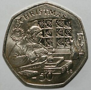 1982 to 2008 Isle of Man Christmas 50p's Most Years Available Uncirculated