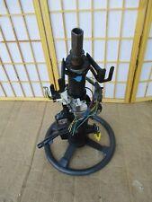 84-88 Pontiac Fiero OEM Black & Gray Steering Wheel Column w/ Ignition And Key