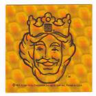 Vintage 1978 BURGER KING Bike Reflector Sticker