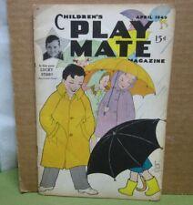 Children'S Playmate Magazine kids April 1949 Easter crafts & Linda paper-dolls