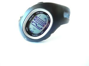 *MINT*  Nike Triax Black Sport Running Watch with New Battery WR0066