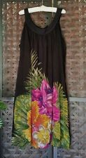 Taillissime La Redoute Creation Dress Black Multi Floral Sleeveless Plus 24W