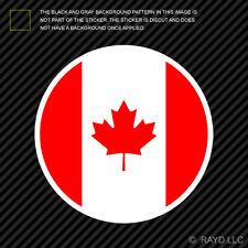 Round Canadian Flag Sticker Die Cut Decal canada
