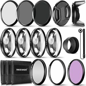 NEEWER 10087417 58mm COMPLETE LENS FILTER ACCESSORY KIT