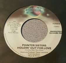 Pointer Sisters ‎– Slow Hand / Holdin' Out For Love