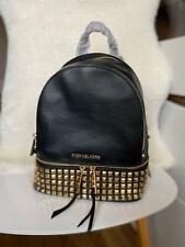 NEW 🔥 Michael Kors Rhea Leather Medium backpack in black