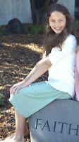 GIRLS Knee Length Skirt (4 Colors Available)