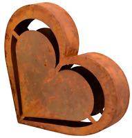 XXL Herz Edelrost 32 cm Skulptur Deko Garten Terrasse Balkon