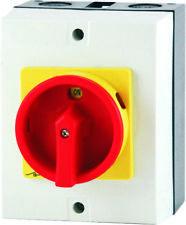 Hauptschalter 4-polig 16A Not-Aus-Schalter Lasttrennschalter Aufputz Rolltor
