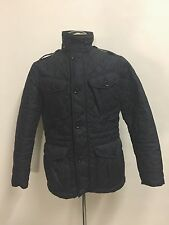 RALPH LAUREN POLO QUILTED MEN'S WAXED COAT JACKET BLACK SIZE SMALL HUNTING