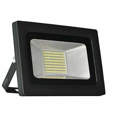UK 30W Warm White LED Flood Light Safety Outdoor Waterproof Landscape Glass Lamp