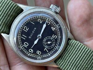 Rare 1940's Bulova Military ORD DEPT AF US ARMY  AIR FORCE WW2 CAL. 10AK RUNS