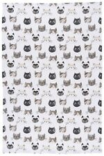 NOW DESIGNS Dish Towel Tea Towel Cats Meow NWT 100% Cotton Kitchen Linens Home