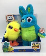 Disney Pixar Toy Story 4 Talking Ducky And Bunny Plush, 2019 NEW