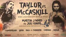 JESSICA McCASKILL SIGNED FIGHT CARD v Katie Taylor
