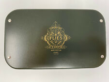"""""""Superfine Flies Made By C.F. Orvis Manchester Vermont"""" Green Metal Fly Box"""