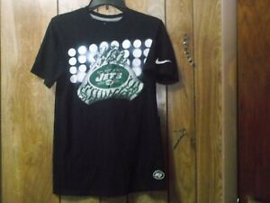 """Pre-owned Mens NFL Nike New York Jets """"Gloves""""  Football TShirt-Sz S-100% Cotton"""