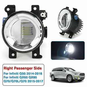 Right LED Fog Light For Infiniti Q50 2014-2018 QX60 QX80 Q70/Q70L/Q70