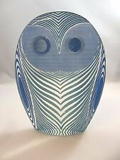 HTF Palatnik Lucite Acrylic Optic BLUE Blinking Owl Sculpture Figurine 2569