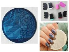 Nail Art Stamping Mixed Patterns Template Image Plate Stamper Scraper Kit BP 21