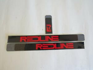 REAL REDLINE 1980s DECALS  BMX CRUISER RACE FREESTYLE STICKERS RL VINTAGE NOS