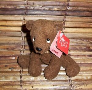 "NEW 5"" Russ Berrie LUV PETS Cubbett Brown Bear Plush Stuffed Bean Bag Animal"
