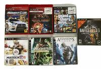 Ps3 Lot Of 7 Games Madden Midnight Club Uncharted Mortal Kombat Gta V +