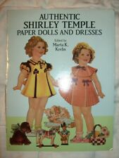 AUTHENTIC Shirley Temple Paper Dolls and Dresses Marta K. Krebs DOVER