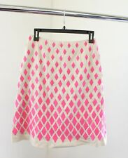Boden Beige Pink Ombre Diamond Embroidered A Line Skirt Size UK 8L US 4 4L
