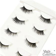 3D Mink Half Corner Eyelashes False Natural Fake Eye Lashes Black 5 Pairs - 302
