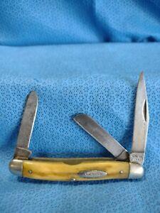 RARE Vintage CASE 53047 Stag Handle Stockman Pocket Knife