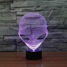 3D Alien Lamp Special Unique Lamp Shape LED Table Lamp with USB Power Illusion