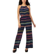 Halterneck Striped Plus Size Jumpsuits & Playsuits for Women