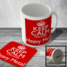 MAC_KCANDLOVE_099 Keep Calm and Love Heavy Metal - Mug and Coaster set