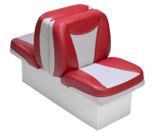 Boat Seat Back To Back Red & Gray High Grade Premium Lounger  UV Treated Vinyl