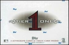 2011 Topps Tier One Baseball Factory Sealed Hobby Box -2 Autos, 1 Relic per pack