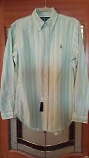 Polo Ralph Lauren GREEN STRIPE MENS DRESS SHIRT NWT SMALL !