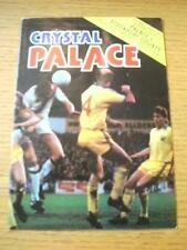 04/09/1979 Crystal Palace v Stockport County [Football League Cup] (Team Changes