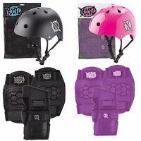 XOOTZ Kids Skate Helmet & 6 Piece Pad Set Skateboards Scooter Bike Black Pink