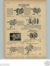 1951 PAPER AD South Bend Shakespeare Pflueger Fishing Reel