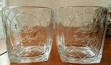 Vintage Crown Royal Cathedral Diamond Design Whiskey / Rocks Glasses Pair