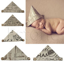 Baby Handworked Newspaper Cap Hand Hat Newborn Folding Paper Photography Props