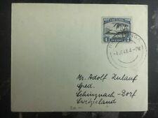 1948 Rarotonga Cook Islands Cover To Switzerland