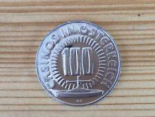 100 Schilling Sonderjeton Casino Austria. Jahres Kindes 1979. 15,8 Gr. Silber.