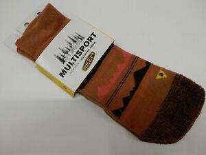 Keen Womens Horizon Ultralite 1/4 Crew Socks Brown Size M (7-9.5)