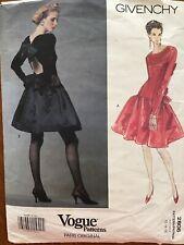 Vintage VOGUE PARIS ORIGINAL Pattern 2806 GIVENCHY 90s Size 12-16
