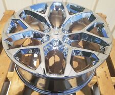 "Chevy Tahoe Silverado Wheels Avalanche Suburban 1500 22"" 2014 2015 2016 2017 NEW"